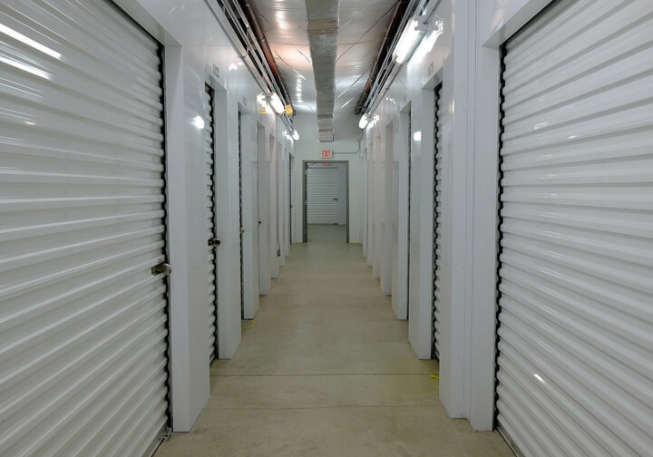 Air conditioned units inside a hallway from 312 Self Storage