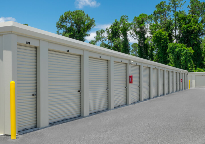 Outside boat storage spaces at 312 Self Storage
